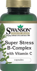 Swanson Premium Super Stress B-Complex with Vit C 240 Capsules