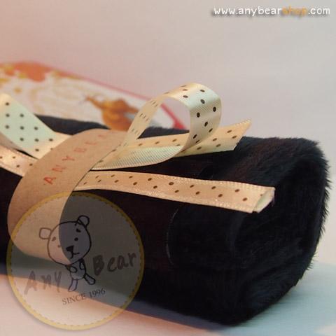 เซตผ้าขนKTสำหรับเย็บตุ๊กตาหมี - โทนสีดำ Black color