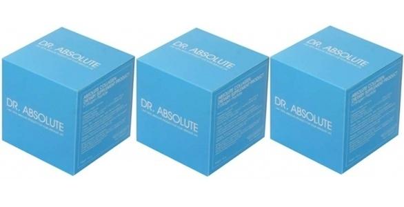 (แพ็ค3กล่อง)DR.ABSOLUTE Collagen คอลลาเจนบริสุทธิ์ 100% (1กล่องมี20ซอง) คอลลาเจนที่ดีที่สุด Pure 5000 mg. กับขนาดโมเลกุลที่เล็กมากเพียง 0.3 กิโลดาลตัน เล็กกว่าคอลลาเจนธรรมชาติถึง 1,000 เท่า นำเข้าจากเยอรมัน