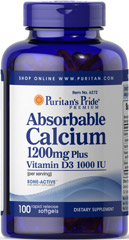 Puritan's Pride - Absorbable Calcium 1200 mg with Vitamin D 1000 IU
