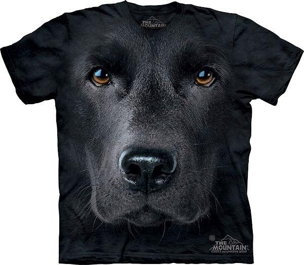 Mountain Big Face Black Labrador Dog T-Shirts