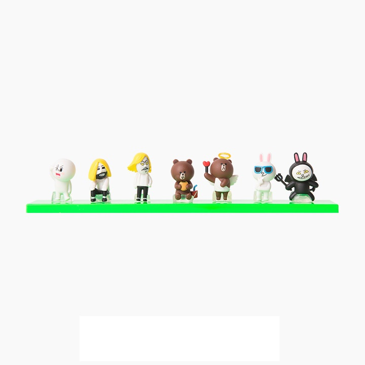 [Preorder] โมเดลตุ๊กตา LINE 1 เซ็ท มี 7 แบบ (Version 2) Korean shopping with my line friends Brown can be 3 cm mini doll seven sets of hands to do