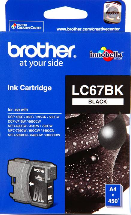 BROTHER INK CARTRIDGE LC-67BK สีดำ