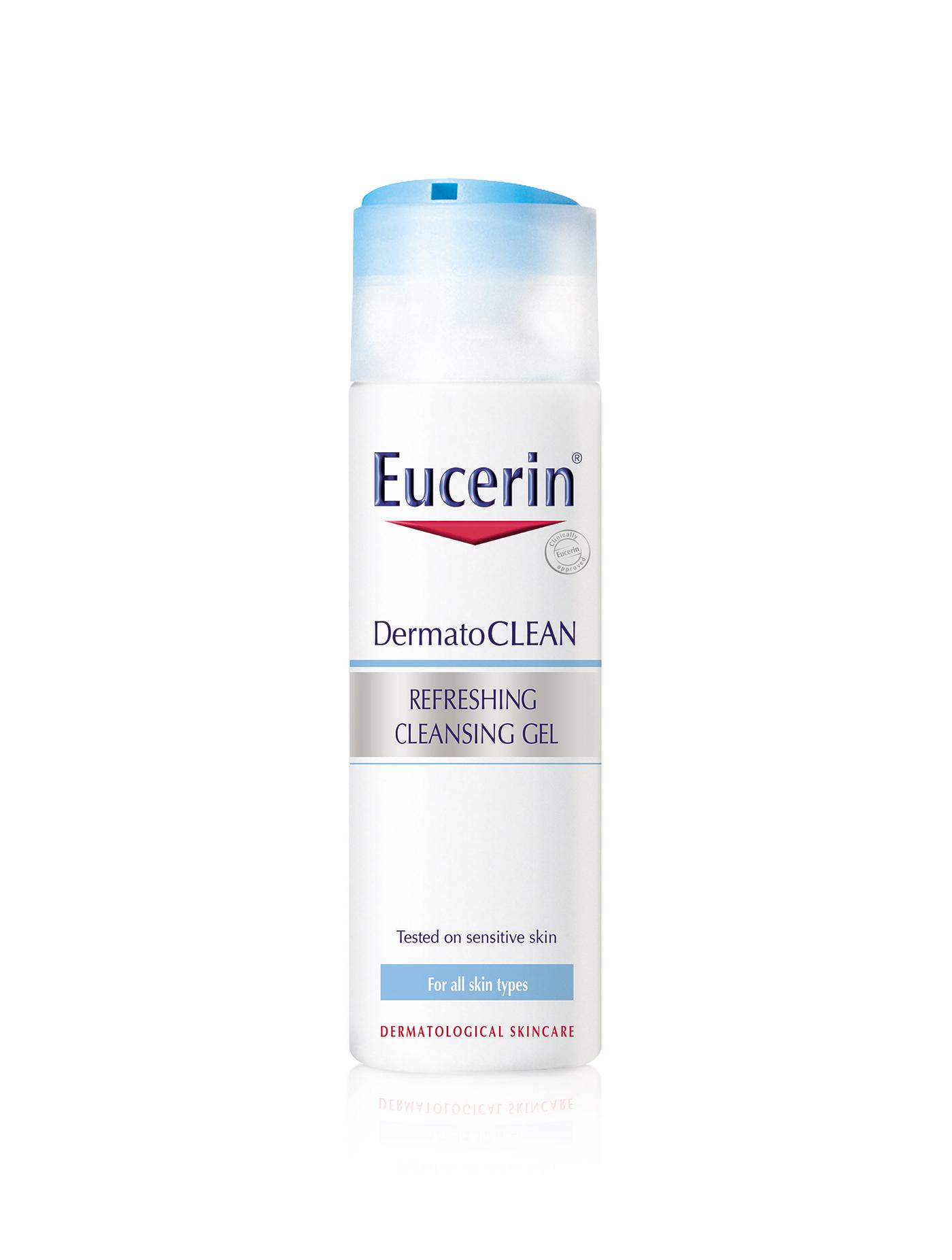 EUCERIN เจลทำความสะอาดผิวหน้า คลีนซิ่ง เจล เดอร์มาโทคลีน รีเฟรชซิ่ง ขนาด 200 มล.