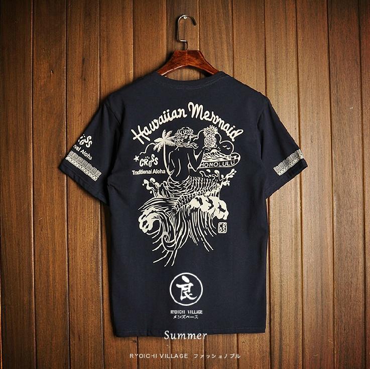 t-shirt mermaid Europeanเสื้อยืดแฟชั่นสุดแนว