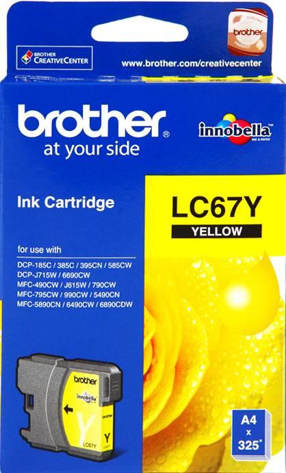 BROTHER INK CARTRIDGE LC-67Y สีเหลือง
