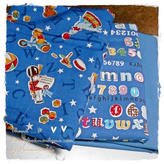 MARCH58Pack24 : ผ้าจัดเซตผ้าอเมริกา 1 ชิ้น+ผ้าลายตารางผ้าในตลาดไทย คอตตอน 2 ชิ้น ขนาดผ้าแต่ละชิ้น 25-27 X 45-50cm