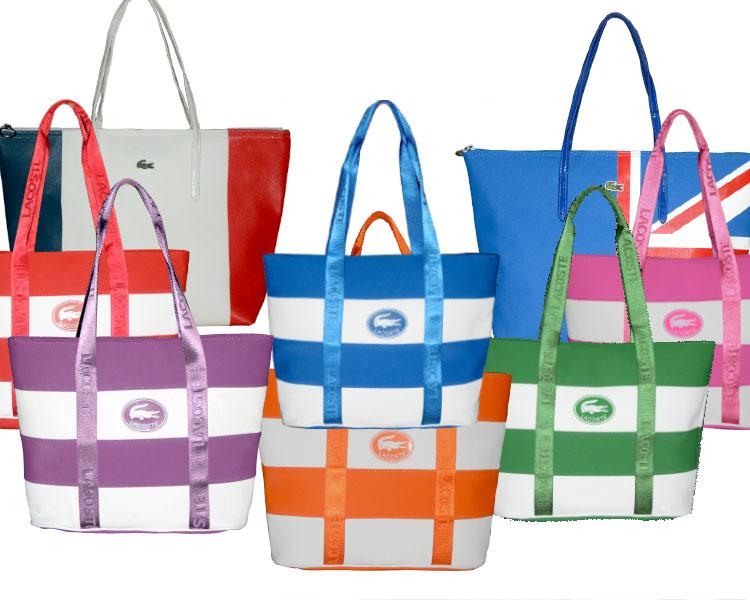 พร้อมส่งค่ะ Lacoste leisure tote bag ใบใหญ่ สีสันสดใส