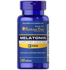 Puritan's Pride Melatonin 3 mg / 240 Tablets