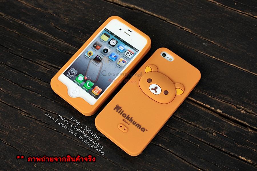 เคส iPhone5/5s หมี Rilakkuma [นิ่ม ไม่ย้วย ไม่มีคราบกาว]