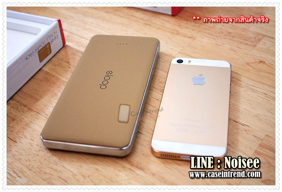 ขนาด Eloop E13 เมื่อเทียบกับ iPhone5s