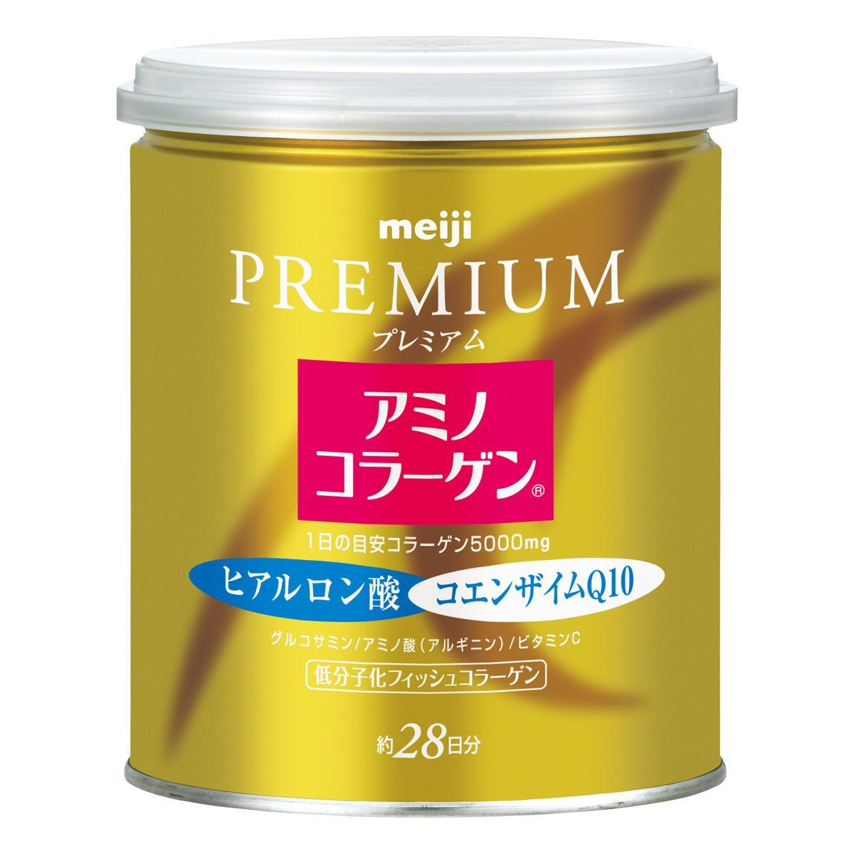 Premium Amino Collagen meiji เมจิ อะมิโน คอลลาเจน แบบกระป๋อง สำหรับรับประทาน 28วัน