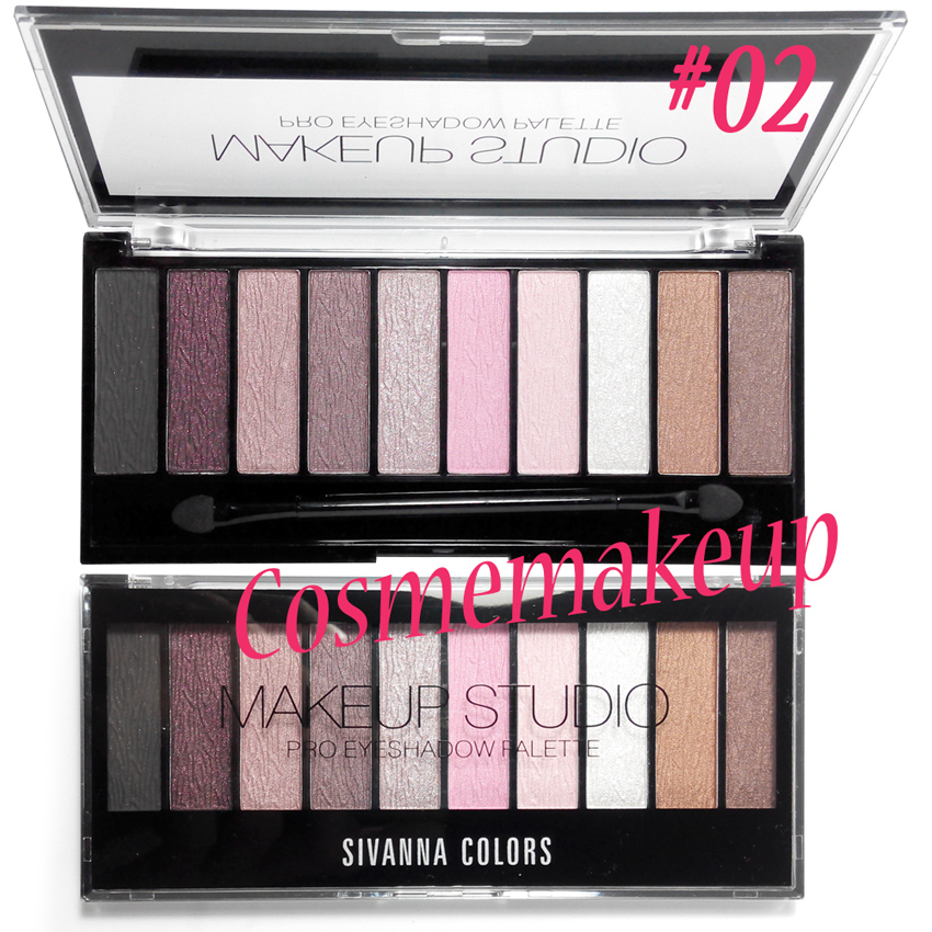 Sivanna Makeup Studio Pro Eyeshadow palette #02