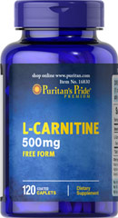 Puritan's Pride - L-Carnitine 500 mg 120 Coated Caplets