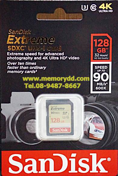 Sandisk SD Extreme 128GB 90MB/s (600X) (SIS/Synnex)