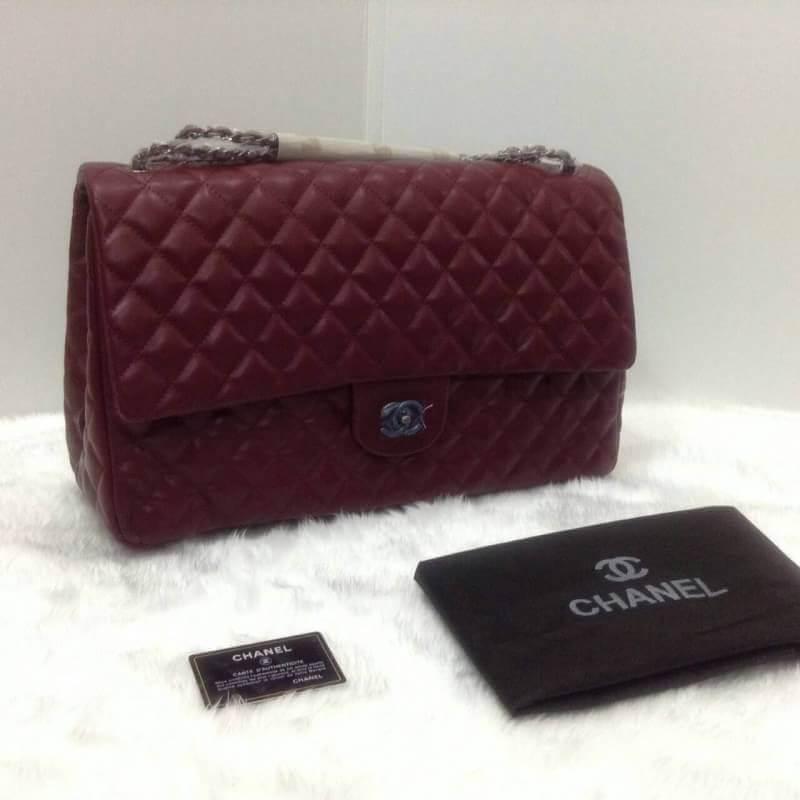 กระเป๋าแบรนด์ chanel งาน top premium รุ่นจัมโบ้ 18 นิ้ว