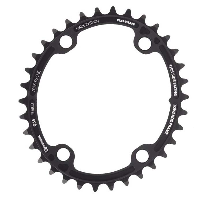 New Rotor Chainring C 46t BCD110x5 Outer Black
