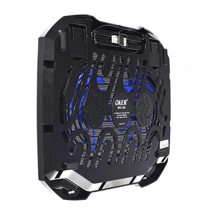 พัดลมระบายความร้อนOKER Notebook Cooling Pad HVC-393