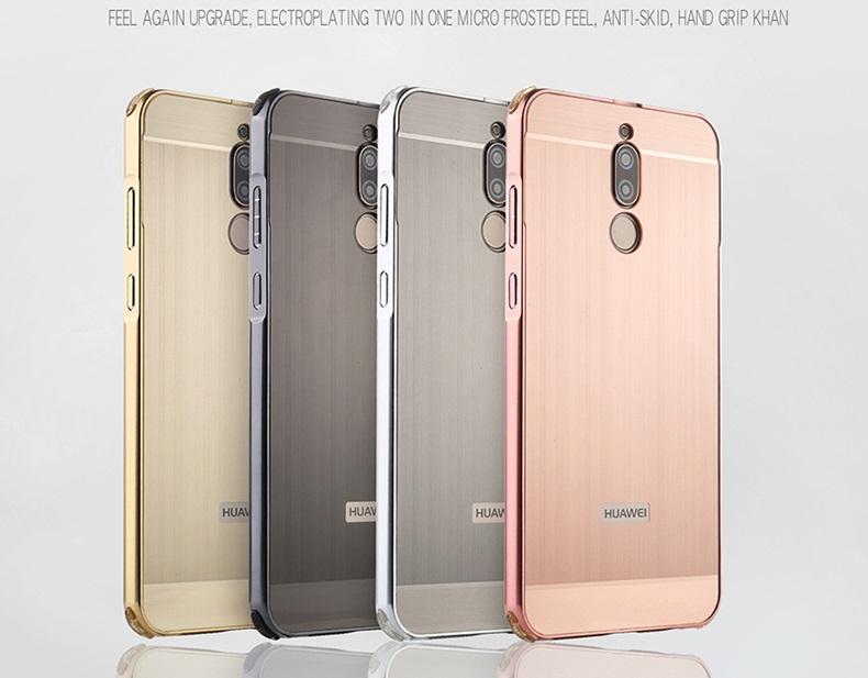 (674-006)เคสมือถือ Case Huawei Nova 2i/Mate10Lite เคสโลหะลายขนแปรงสวยๆ ยอดฮิต