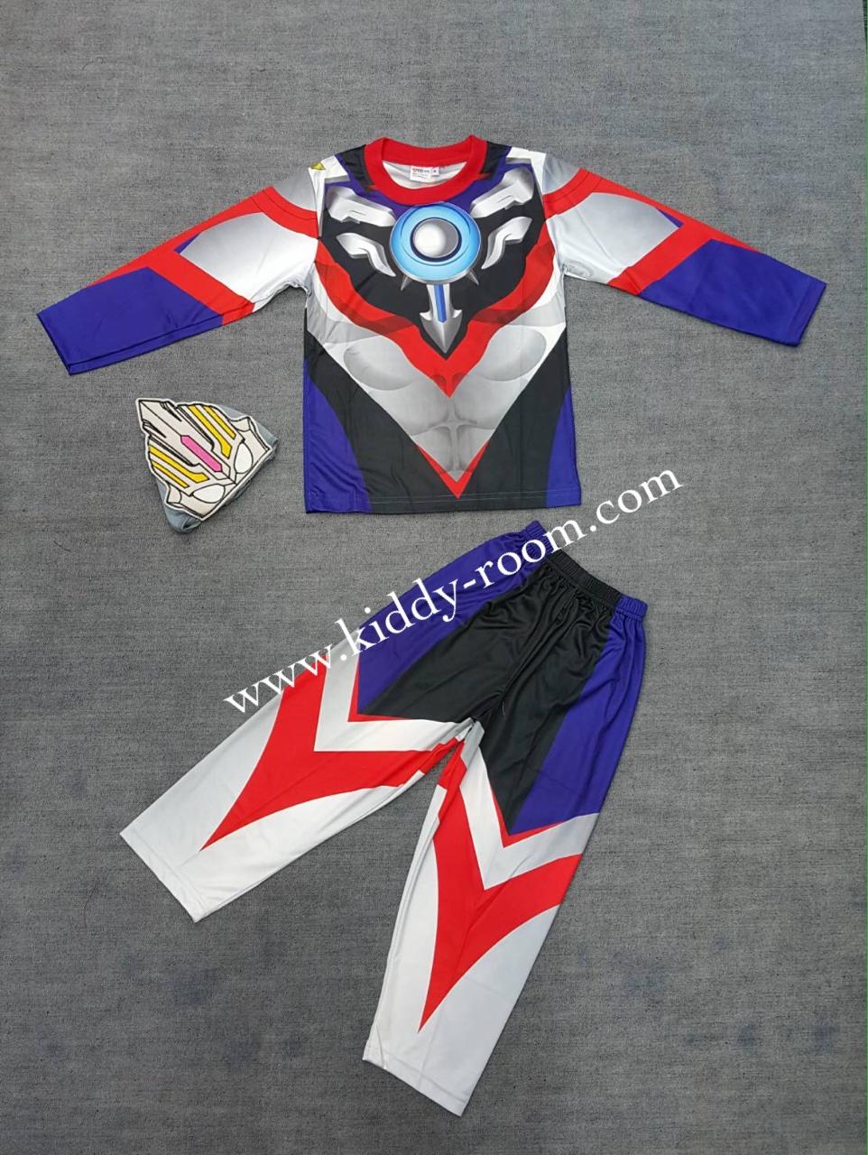 Ultraman Orb (งานลิขสิทธิ์) ชุดแฟนซีเด็กอุลตร้าแมน ออร์บ ชุด 3 ชิ้น เสื้อ กางเกง และหน้ากาก ให้คุณหนูๆ ได้ใส่ตามจิตนาการ ผ้ามัน Polyester ใส่สบายค่ะ หรือจะใส่เป็นชุดนอนก็ได้ค่ะ size S, M, L, XL สำเนา