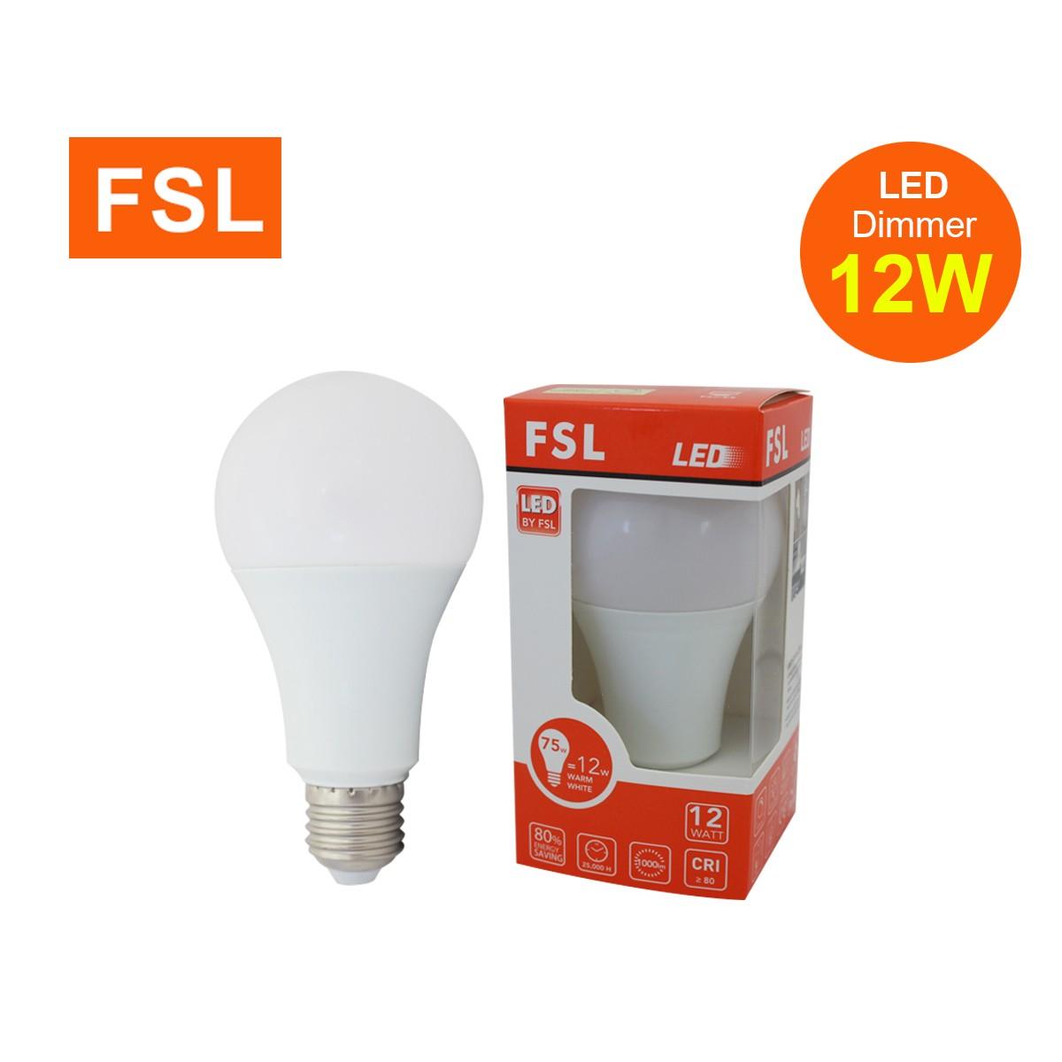 หลอดปิงปอง LED Bulb FSL 12w Dim