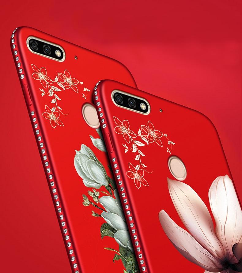 (026-015)เคสโทรศัพท์มือถือหัวเว่ย Case Huawei Nova 2 lite เคสนิ่มขอบเพชรลายดอกไม้