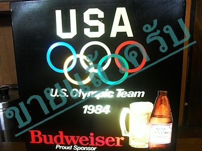 ป้ายไฟ budweiser olympic usa1984