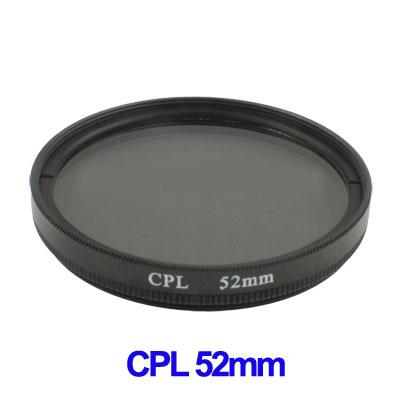 52mm Camera CPL Filter Lens (Black)