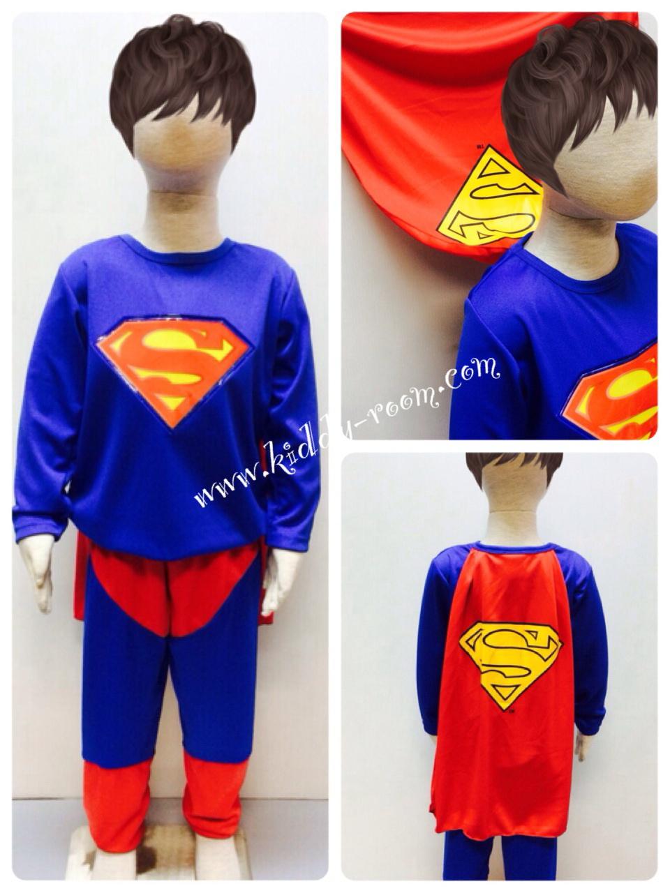 Superman (งานลิขสิทธิ์) ชุดแฟนซีเด็กซุปเปอร์แมน มีไฟ 2 ชิ้น เสื้อพร้อมผ้าคลุม และกางเกง ให้คุณหนูๆ ได้ใส่ตามจิตนาการ ผ้ามัน Polyester ใส่สบายค่ะ หรือจะใส่เป็นชุดนอนก็ได้ค่ะ size S, M, L, XL