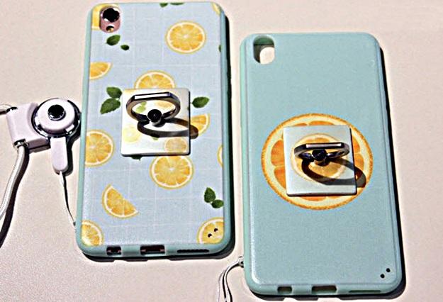 (440-070)เคสมือถือ Case OPPO F1 Plus (R9) เคสนิ่ม+แหวนตั้งโทรศัพท์ลายเลมอน