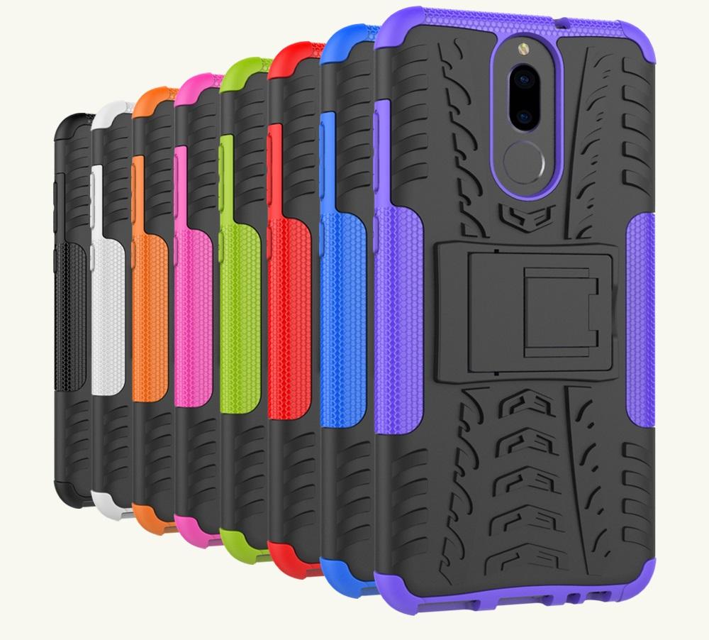 (674-009)เคสมือถือ Case Huawei Nova 2i/Mate10Lite เคสนิ่มเกราะพลาสติกลายยางรถยนต์