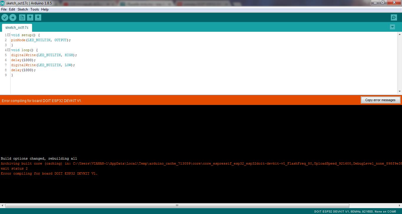 สอบถามผู้รู้ด้วยครับ จะแก้ไขอย่างไร exit status 2 Error compiling