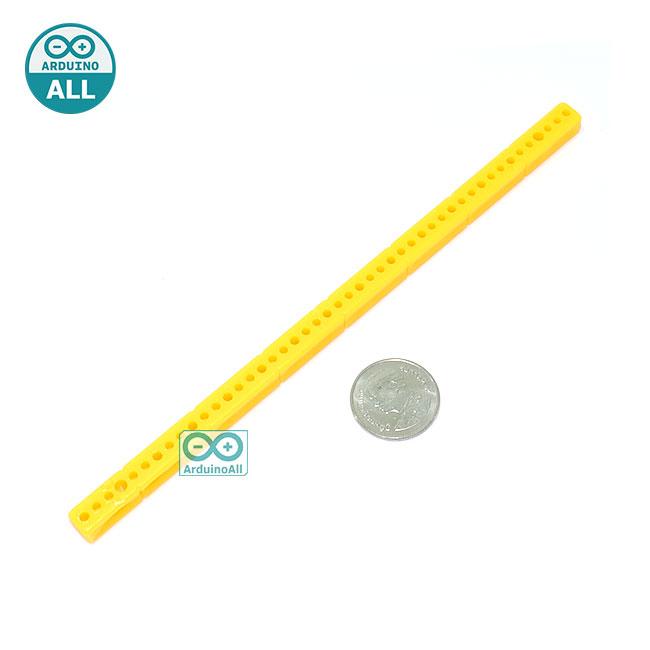 ABS plastic long bar blocks universal plate ขนาด 0.7x15.3cm สีเหลือง