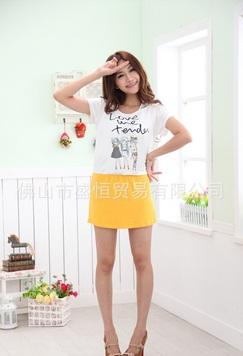 C564 ชุดให้นมชุดกระโปรงเสื้อสีขาว กระโปรงสีเหลือง ชุดนี้น่ารักมากจ้า