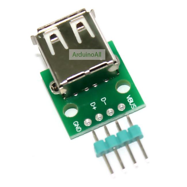 USB Type A Female Breakout บอร์ดแยกขา USB