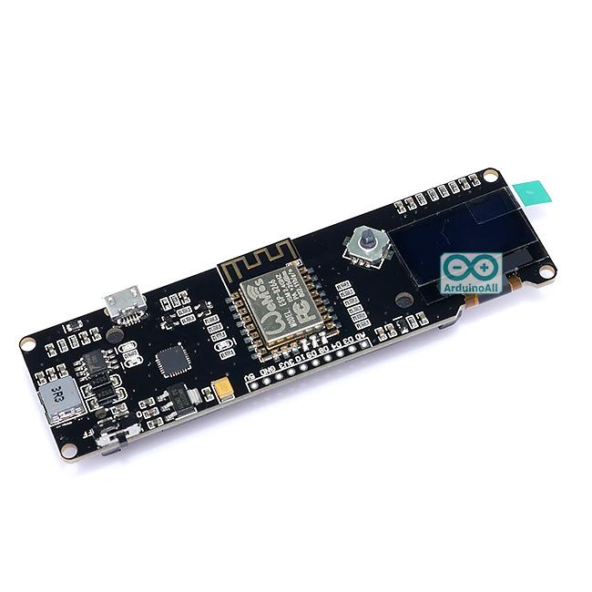 "NodeMCU WeMos ESP8266 built-in 0.96"" OLED+ Charger 18650 บอร์ด NodeMCU + OLED + วงจรชาร์แบต 18650"