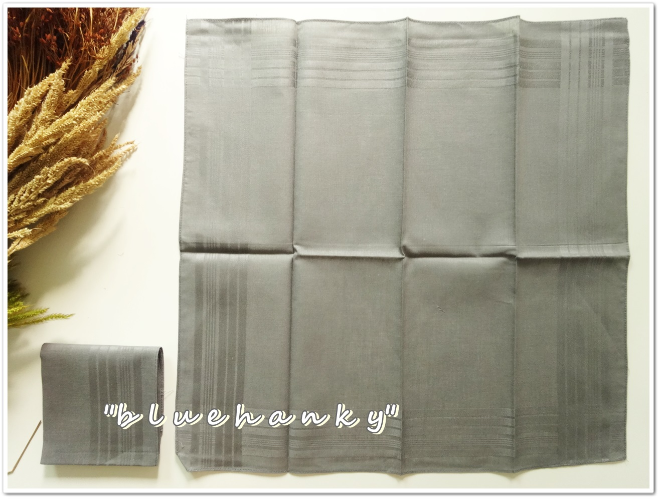 ผ้าเช็ดหน้าสีพื้น สีเทา