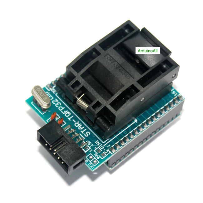 Socket 28 CHIP PROGRAMMER SOCKET TQFP32 QFP32/ LQFP32 TO DIP28 adapter socket for atmega32a atmega168 atmega8