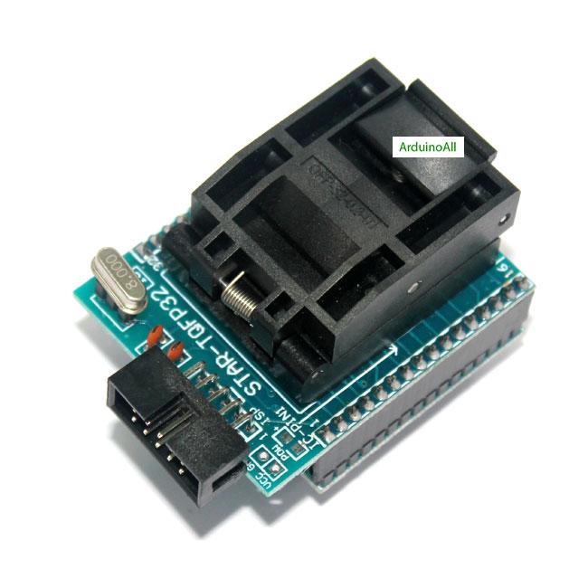 Socket 28 CHIP PROGRAMMER SOCKET TQFP32 QFP32/ LQFP32 TO DIP28 adapter socket for arduino atmega328 atmega168 atmega8