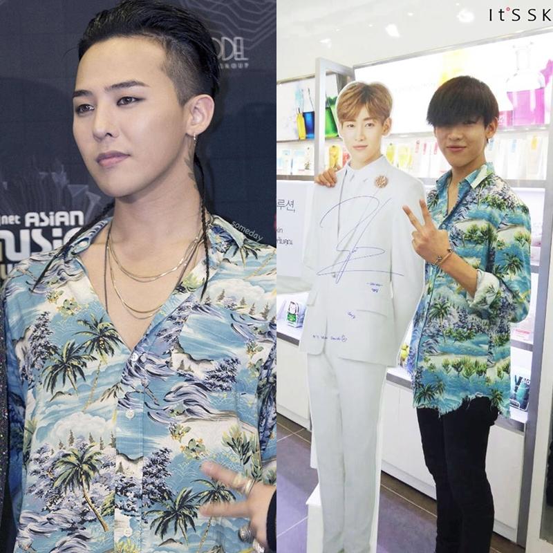 เสื้อเชิ้ต SAINT LAURENT HAWAIIAN Sty.G-Dragon -ระบุไซต์-