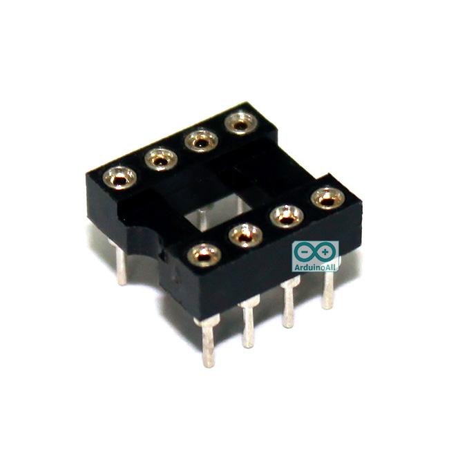 socket 8 ขา 8 pin Socket (DIP-8) แบบขากลม