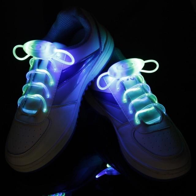 เชือกผูกรองเท้าแบบมีไฟ พร้อมส่ง