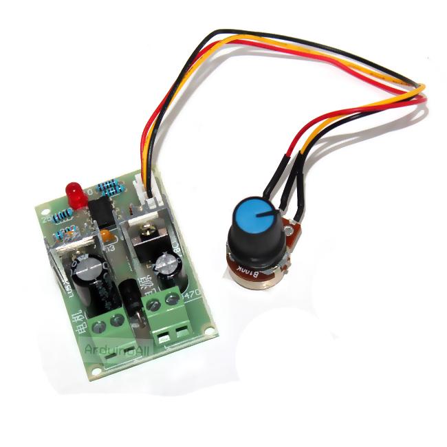 PWM DC motor speed 12V-24V-36V Power MOSFET DC Motor Speed DC motor stepless speed regulation saitch