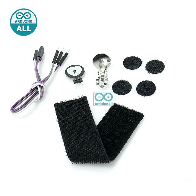 Pulsesensor pulse heart rate with official accessories โมดูลวัดชีพจร หัวใจ สำหรับ Arduino พร้อมอุปกรณ์เสริม