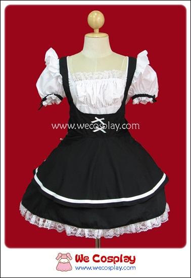 ชุดเมดแบล็คเลิฟลี่ Black Lovely Maid Costume สีดำ