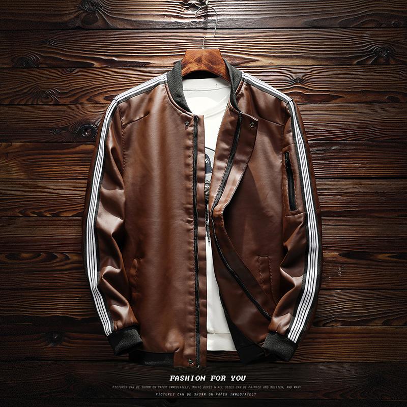 *Pre Order* Jacket locomotive leather jacket แฟชั่นญี่ปุ่น size M-4XL