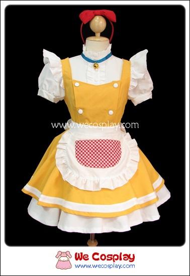 ชุดเมดโดเรมี่ Doraemi Maid Costume สีเหลือง