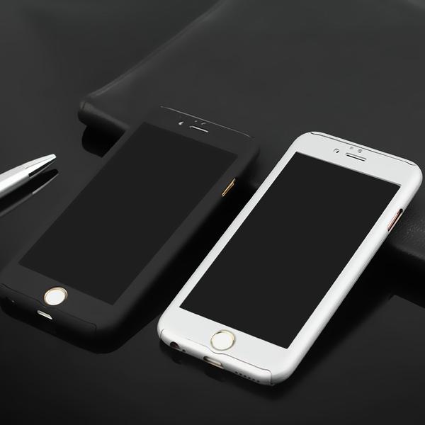 เคสไอโฟน6Plus/6sPlus (เคสประกบฝาหลังคลุมรอบตัวเครื่อง) Silver ***ลดราคาพิเศษ**