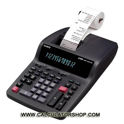 เครื่องคิดเลขพิมพ์กระดาษ ขนาดใหญ่ Casio รุ่น DR-120TM สีดำ