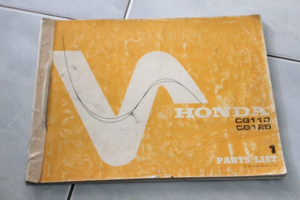 หนังสือ Parts List Honda CG110 เล่มแท้ มือสอง